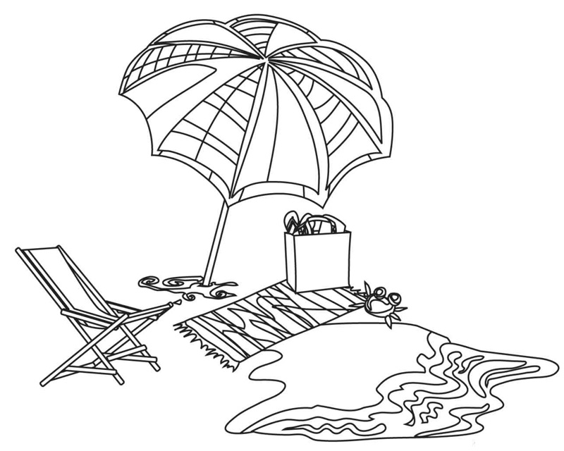85 Coloring Page Of Beach Umbrella Vector Of A Professional Coloring Pages