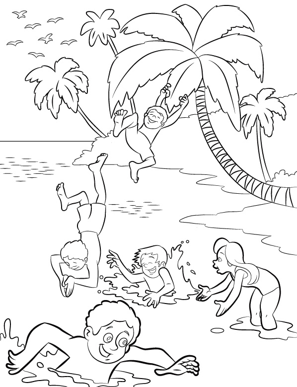 beach-coloring-pages-free