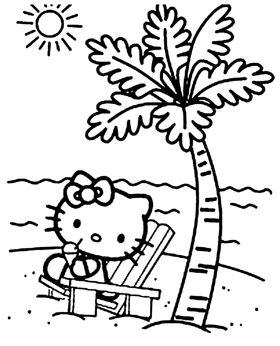 hello-kitty-beach-coloring-pages