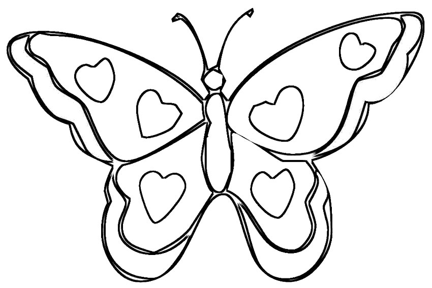 Butterfly Coloring Pages Free To Download Butterfly Coloring Pages