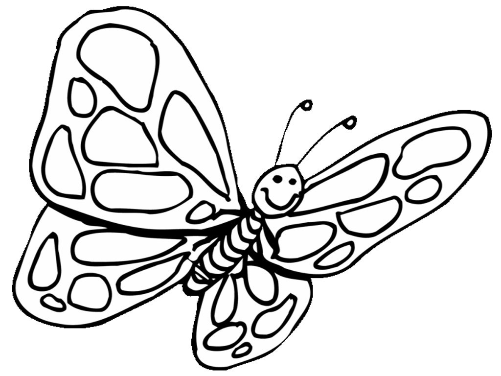 Free butterfly coloring pages - Free Butterfly Coloring Pages Cute Butterfly Coloring Pages
