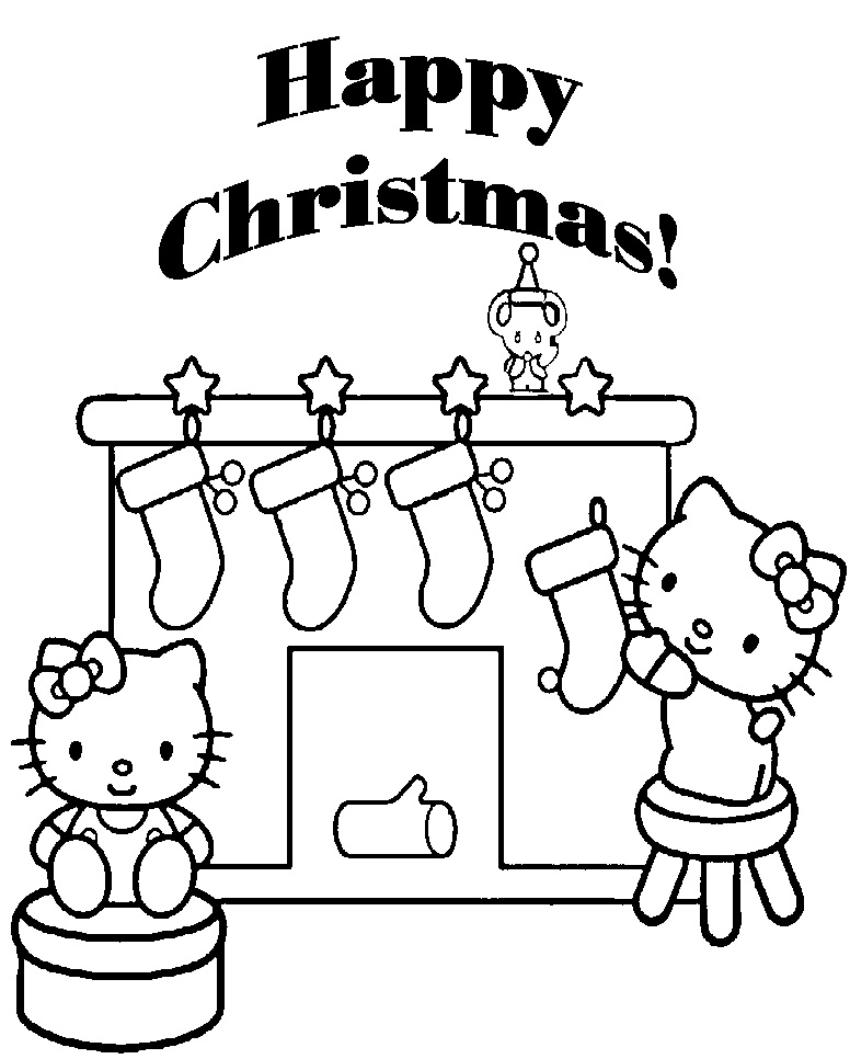 Hello Kitty Merry Christmas Coloring Pages : Merry christmas coloring pages