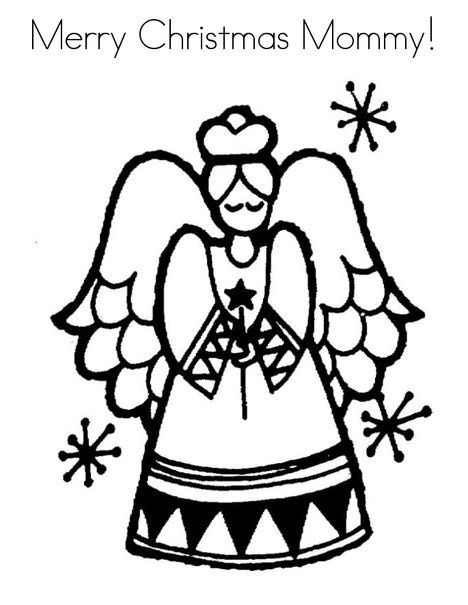 Merry Christmas Mom Coloring Pages