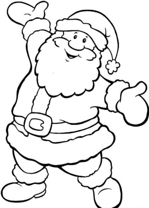 Merry Christmas Santa Coloring Pages