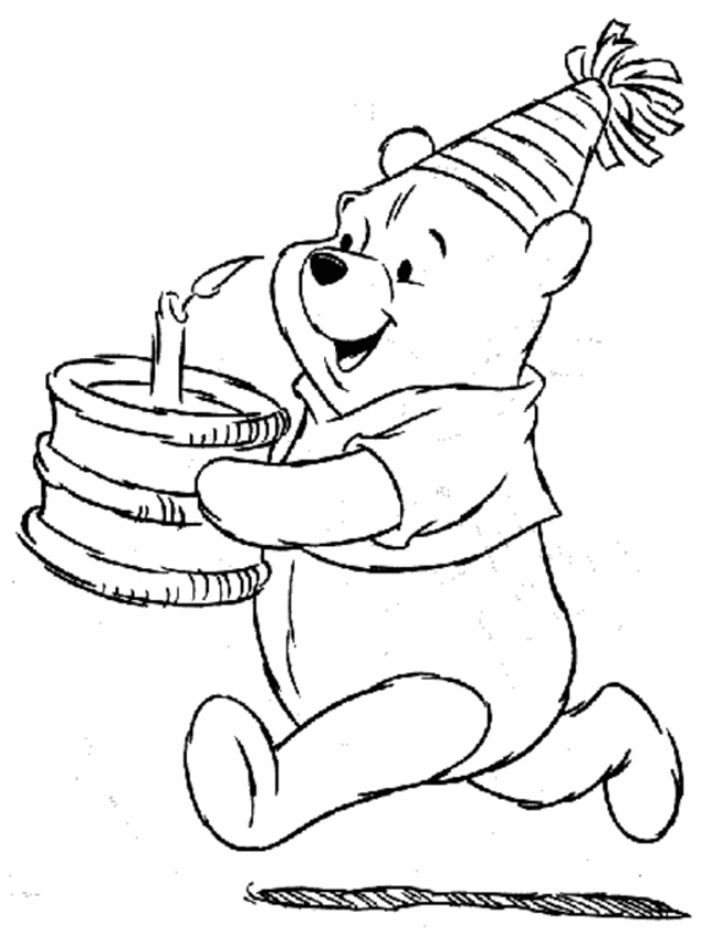 Disney Birthday Coloring Pages
