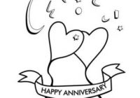 happy anniversary coloring pages free