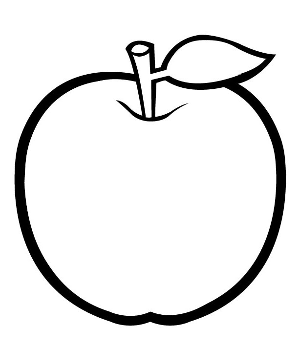 Free Coloring Pages Of An Apple : Apple coloring pages to print