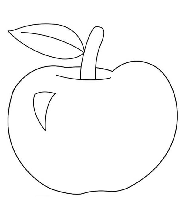 Apple Coloring Pages For Preschoolers : Apple coloring pages to print