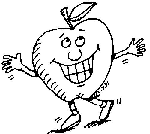 Cartoon Apple Coloring Pages
