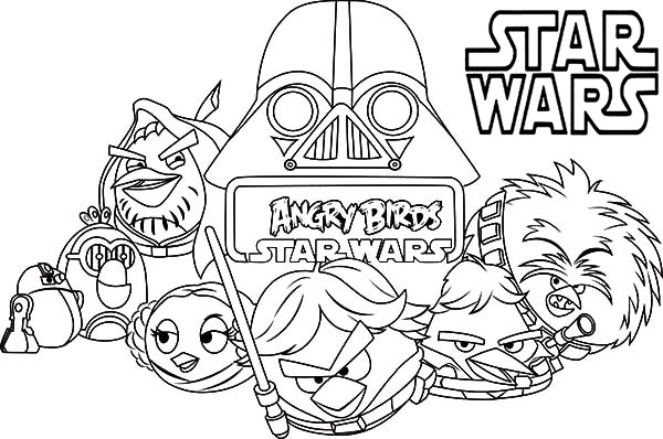 star wars coloring pages angry birds - Star Wars Coloring Books