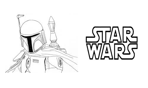 Star Wars Coloring Pages Boba Fett