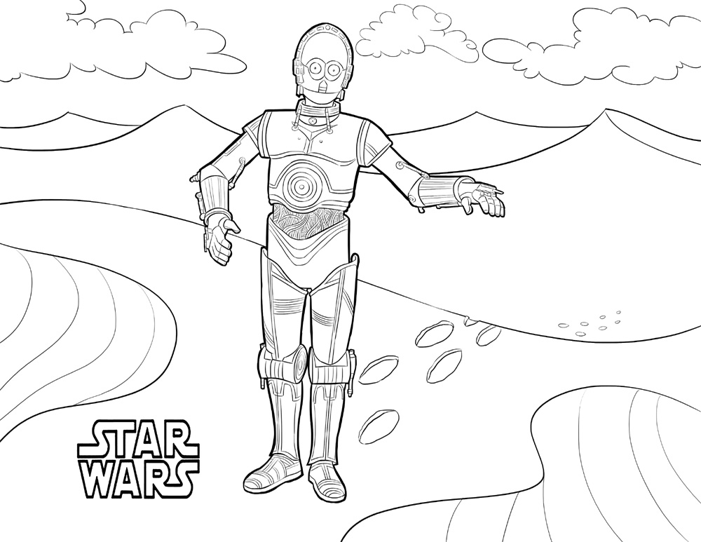 Star Wars Coloring Pages C3po