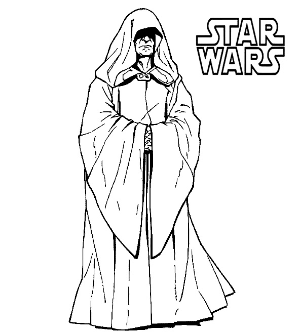 Star Wars Coloring Pages Darth sidious