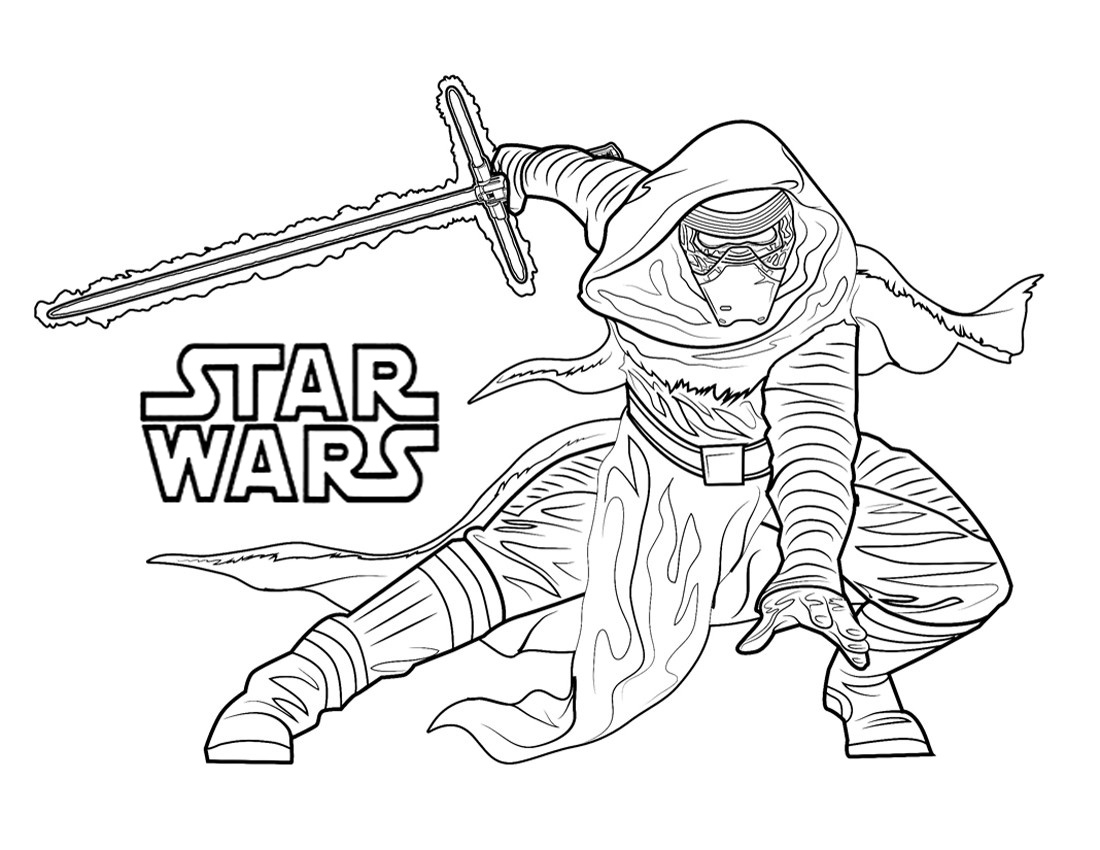 Han solo kylo ren coloring pages printable han best free for Star wars coloring pages
