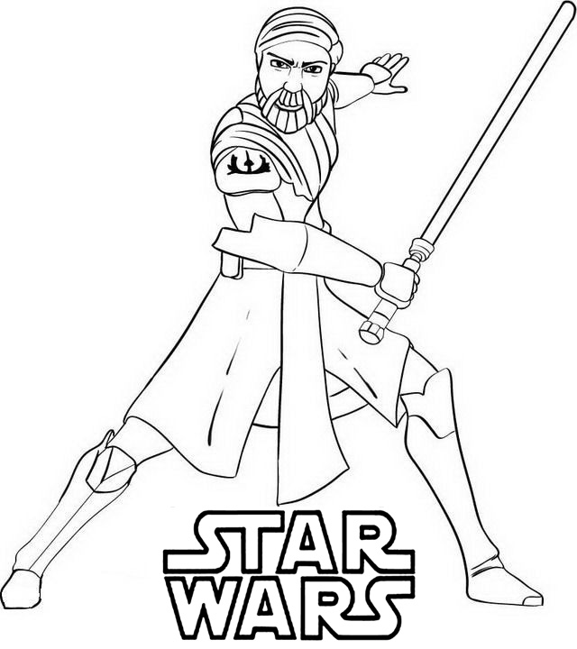 Star Wars Coloring Pages Obi Wan