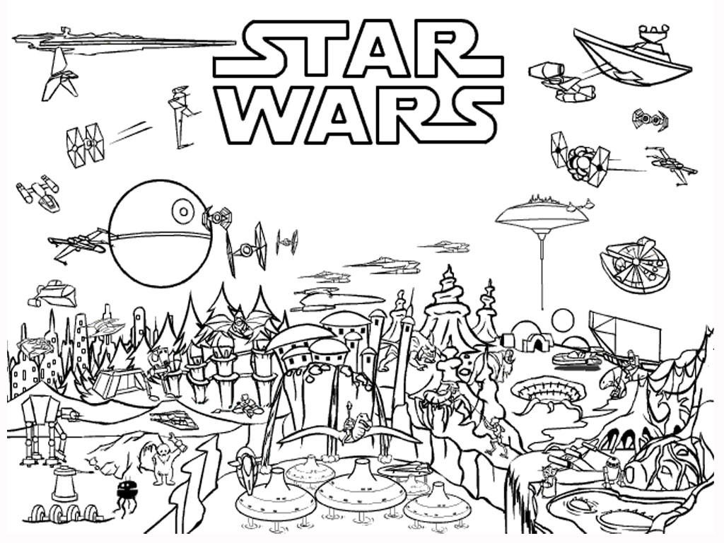 star wars coloring pages online - Angry Birds Star Wars Coloring Pages
