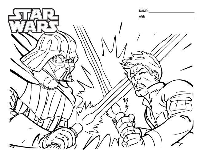 Star Wars Coloring Pages Printable