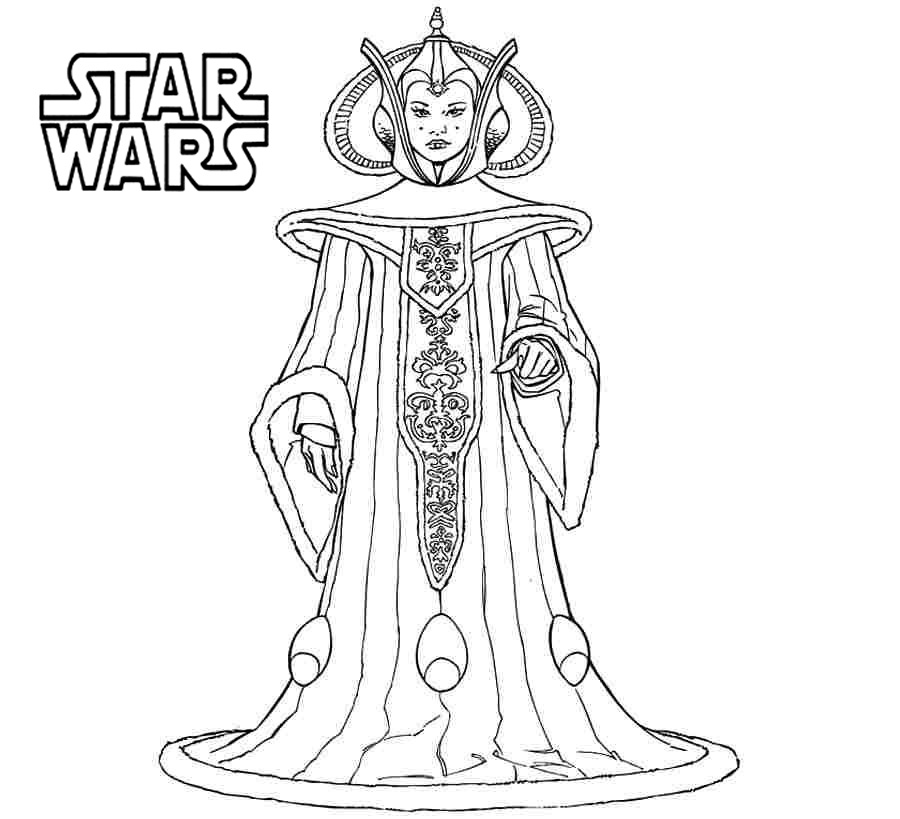 Star Wars Coloring Pages Queenm Amidala