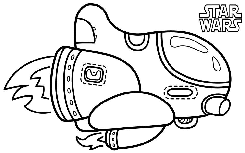 Star Wars Coloring Pages Ships