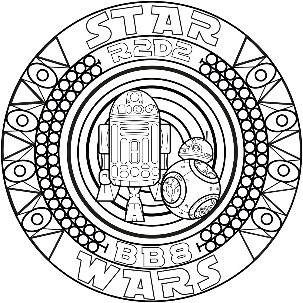 Star Wars Mandala Coloring Pages