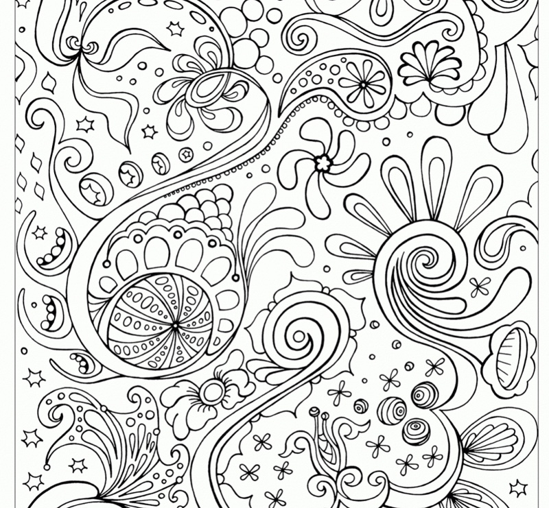 Abstract Art Coloring Pages For Adults