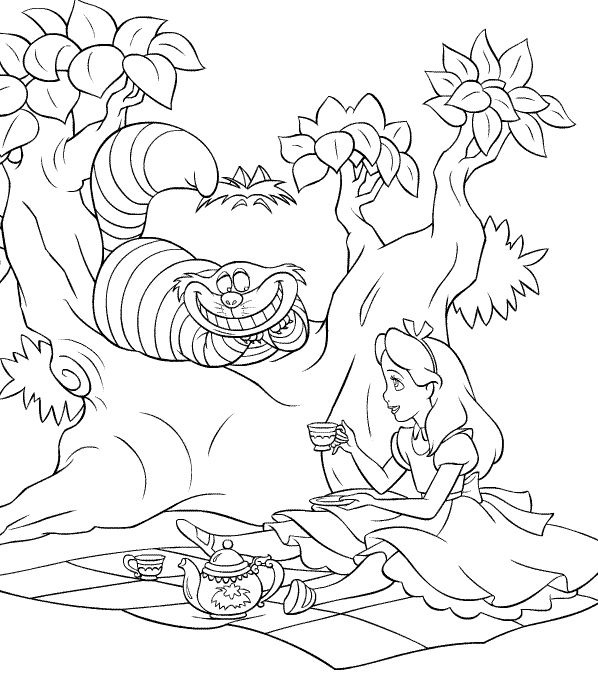 Alice in Wonderland Coloring Pages Printable