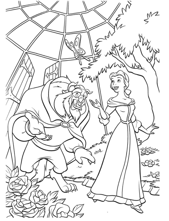 Beauty and The Beast Coloring Pages To Print