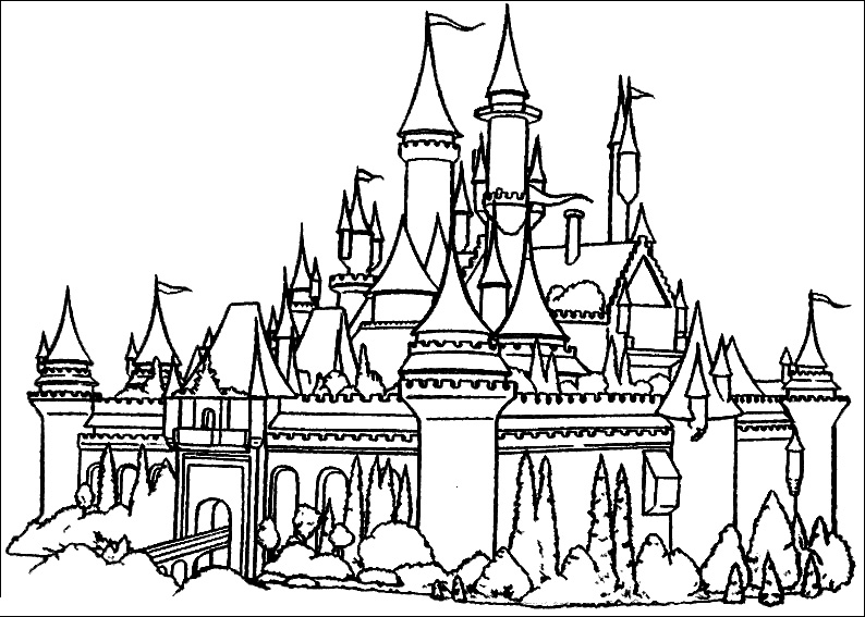 Cinderella Castle Coloring Pages