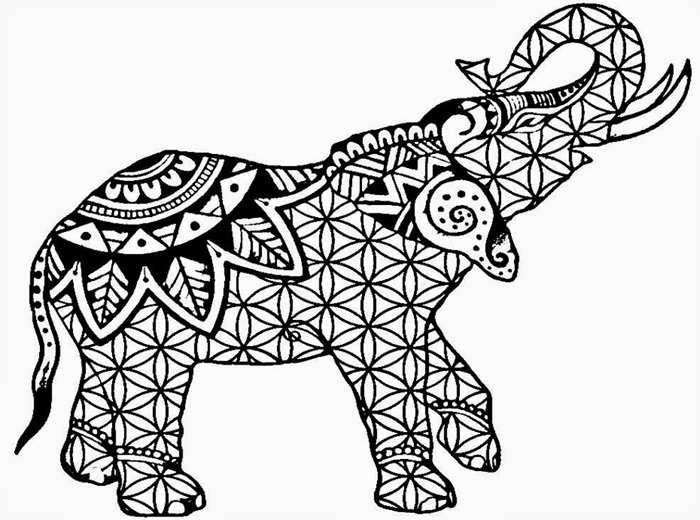 Coloring Pages For Adults Difficult Elephants
