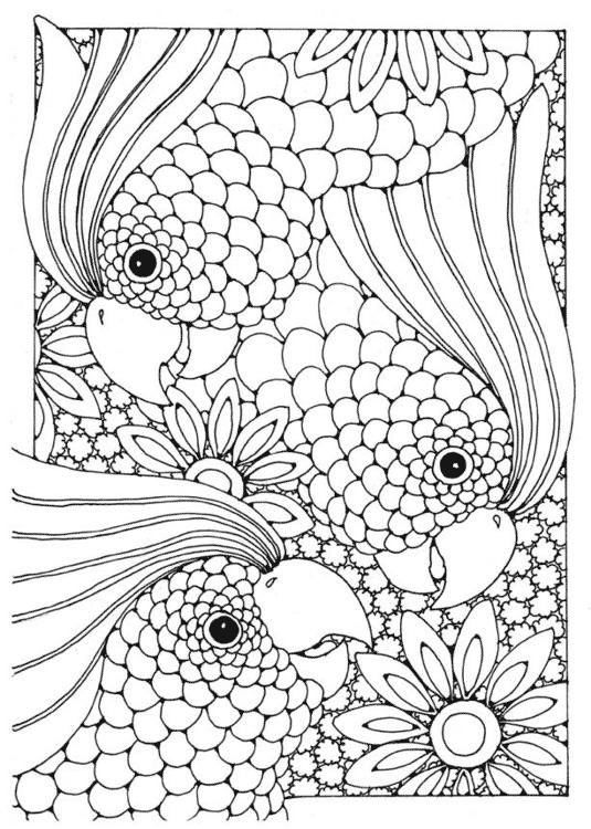 Complicated Coloring Pages for