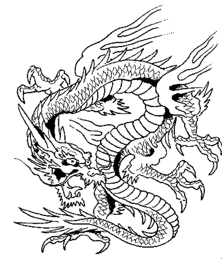 This is a graphic of Hilaire Dragon Coloring Picture