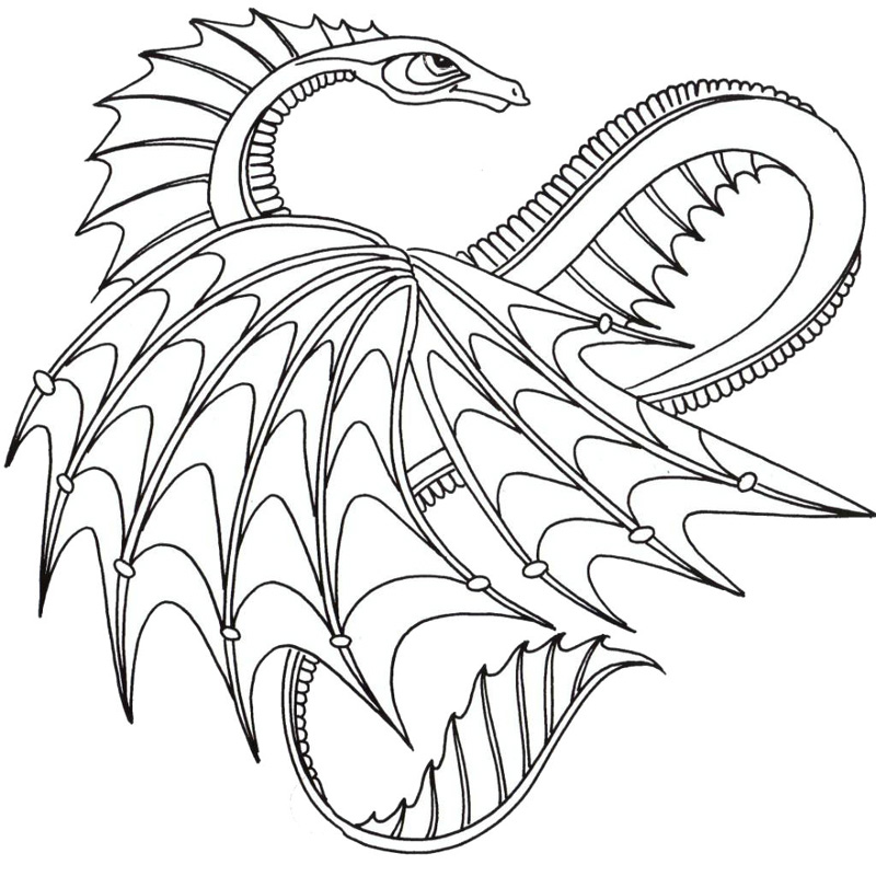 Dragon Coloring Pages For Boys