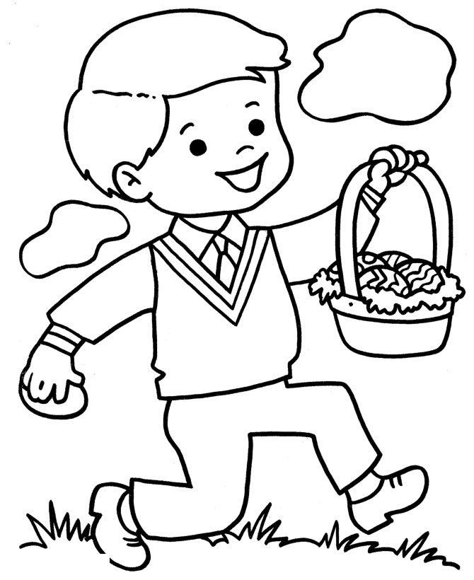 Easter bunny Preschool Coloring Pages
