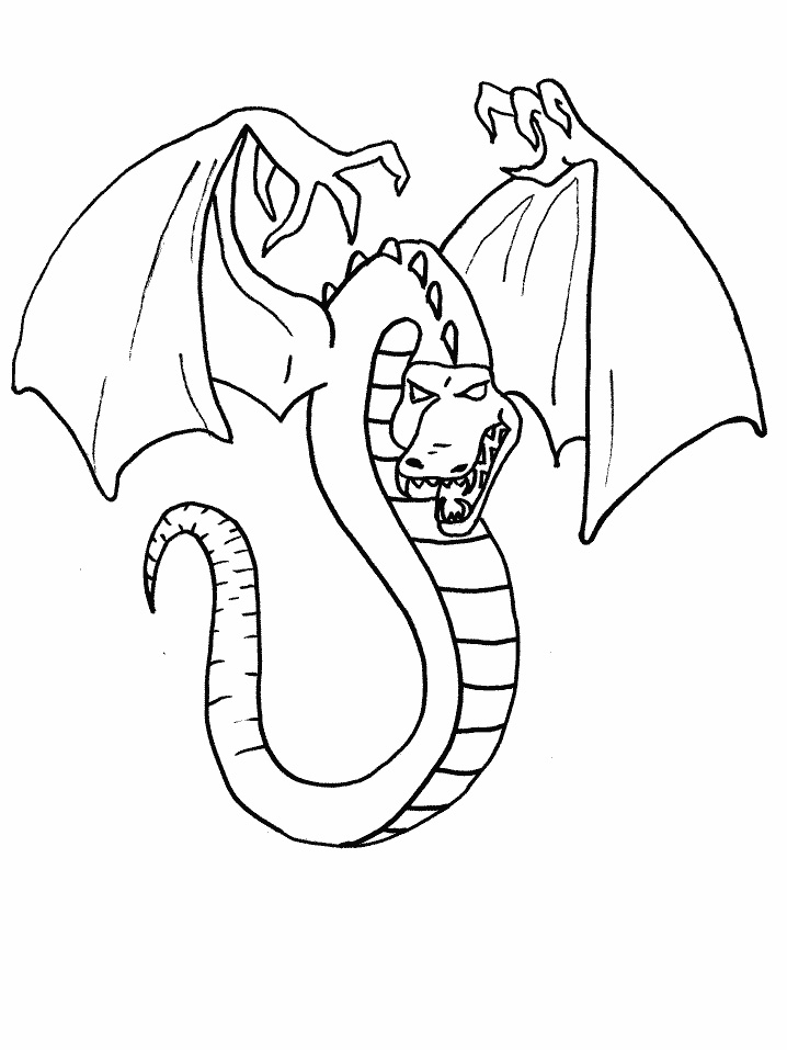 Evil Dragon Coloring Pages