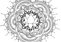 Flower Coloring Pages For Adults Mandala