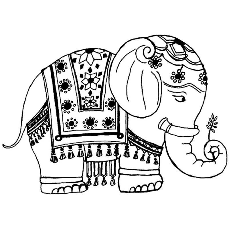 Free Elephant Coloring Pages For Adults