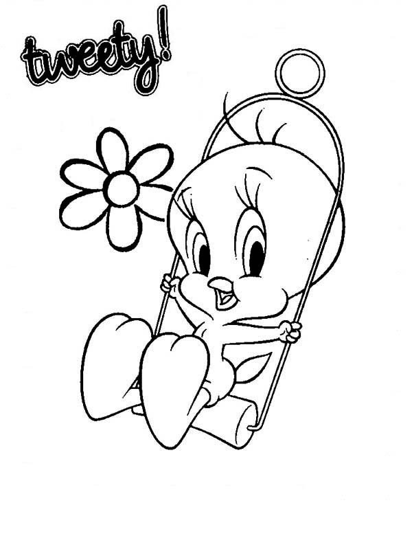 tweety bird printable coloring pages | Cute Tweety Bird Coloring Pages