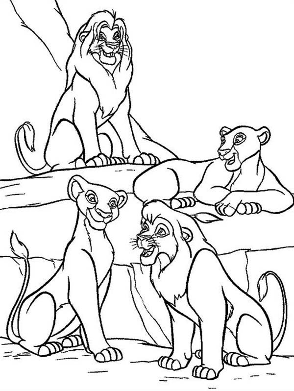 Printable the lion king coloring pages for Lion king scar coloring pages