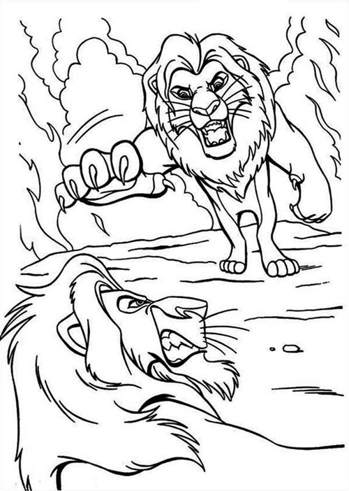 Lion King Coloring Pages Mufasa and Scar