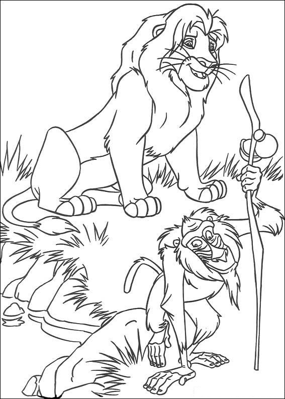 Lion King Coloring Pages Rafiki