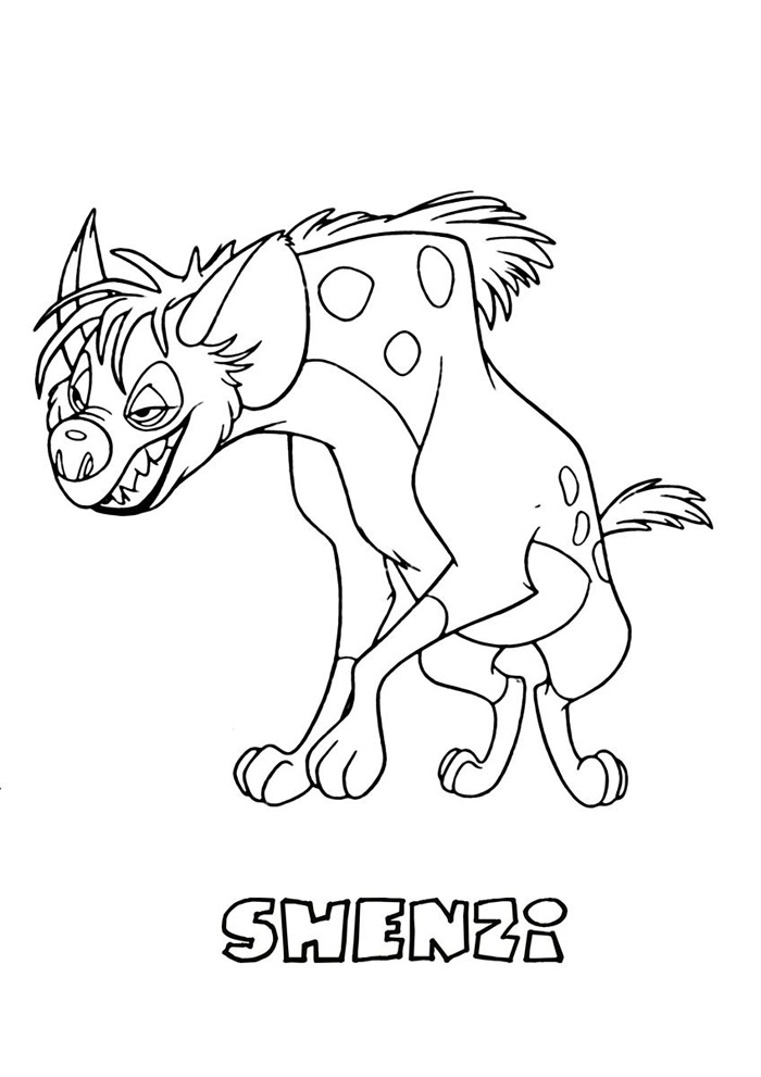 Lion King Coloring Pages Shenzi