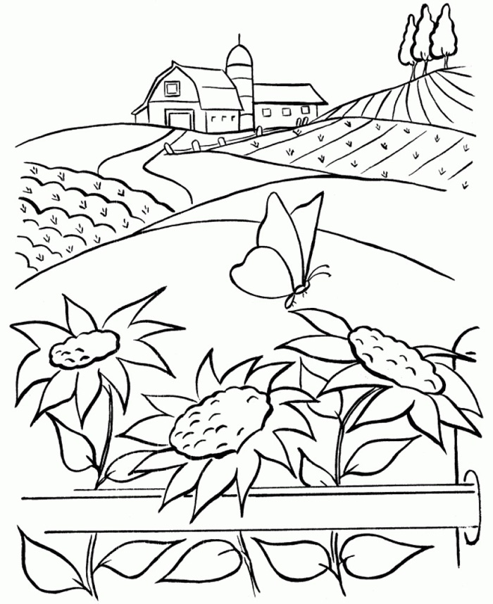 nature coloring pages for adults to print. Black Bedroom Furniture Sets. Home Design Ideas