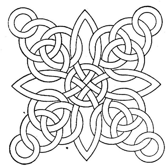 Free Geometric Coloring Pages For Adults