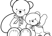 Teddy Bear Coloring Pages Free Printable
