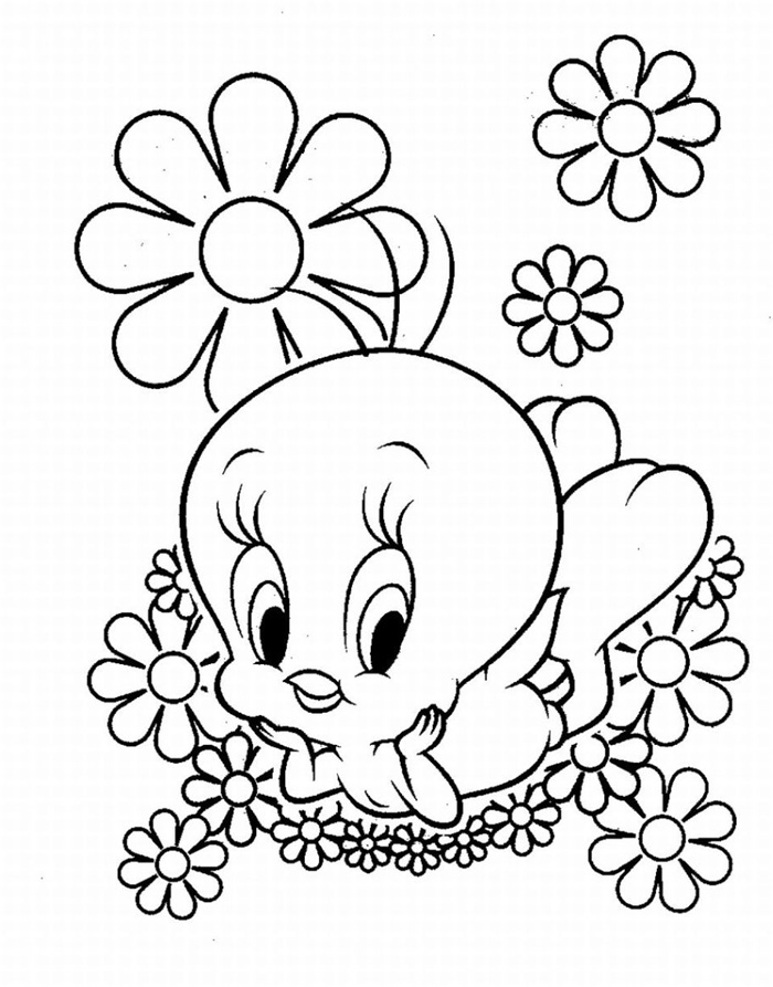 Tweety Bird Coloring Pages Free