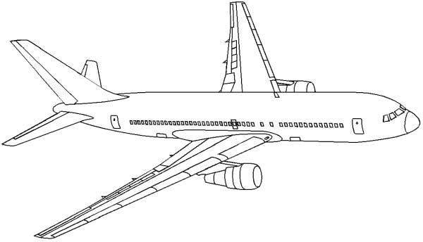 Line Drawing Jet : Airplane coloring pages to print for free