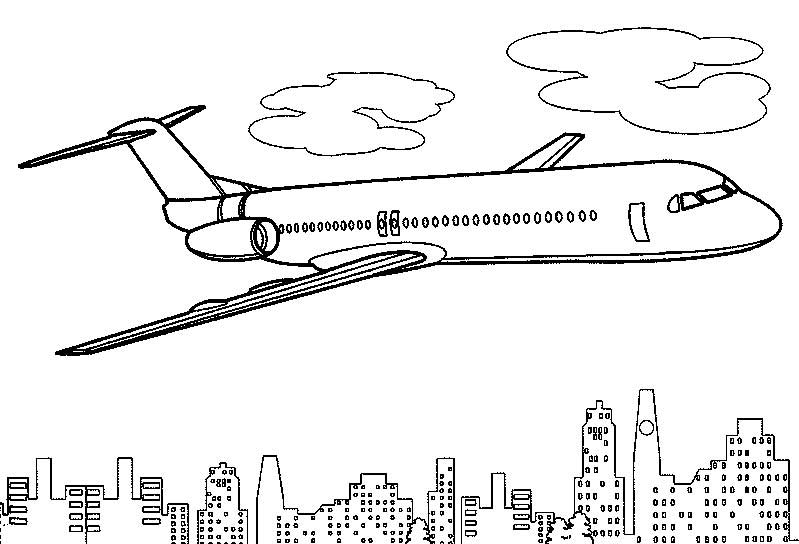 Airplane coloring pages to print for free for A380 coloring pages