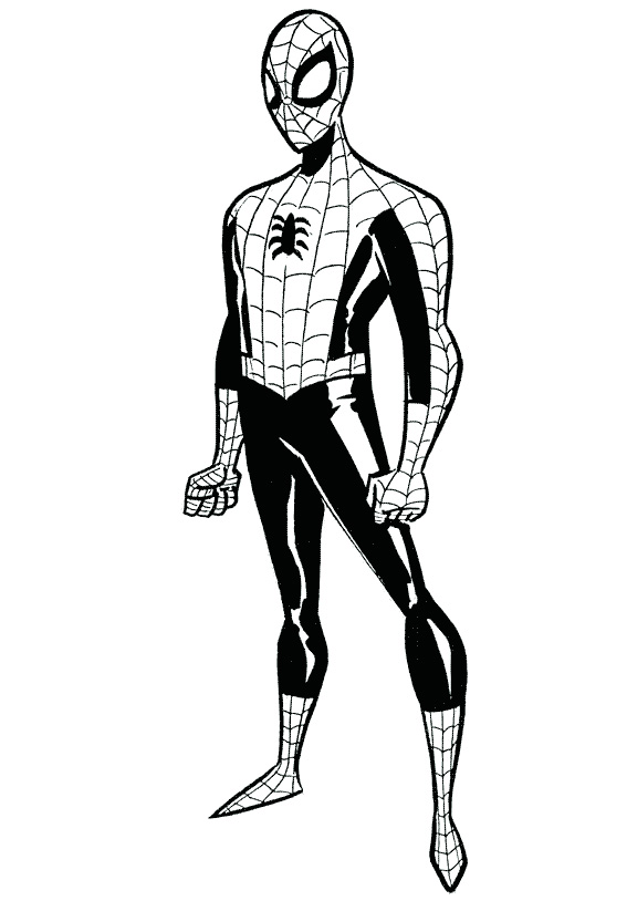 Black Suit Spiderman Coloring PagesBlack Suit Spiderman Coloring Pages