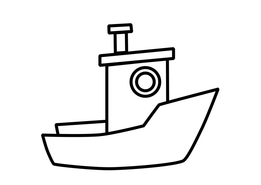 Boat Coloring Pages For Preschool