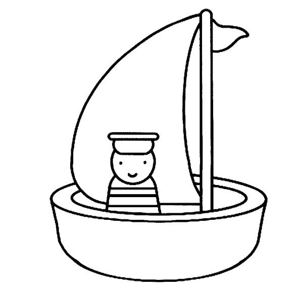 Boat Coloring Pages Printable